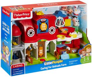 Fisher-Price Little People Bauernhof, d mit vielen Tieren, Sätzen, Geräuschen, ab 12 Monaten 40310014