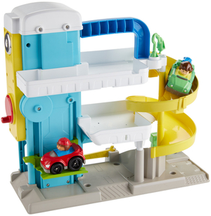 Fisher-Price Little People Parkhaus 34.3x31.8x13.4 cm, mit 2 Autos, ab 18 Monaten 40310650