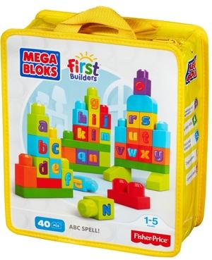 MEGA BLOKS MEGA BLOKS Mega Bloks ABC Bauhaus 40 bunte Bausteine, ab 12 Monaten 40401058