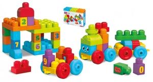 MEGA BLOKS MEGA BLOKS Mega Bloks 123 Lernzug 44 Teile, ab 12 Monaten 40401060