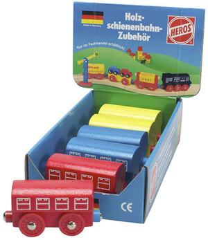 Personenwaggon Holz, 8.0cm zu HEROS Holzschienenbahn 3-farbig sortiert, 3J+ 40904261