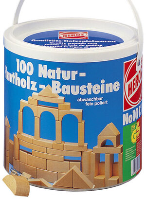 Heros Bausteine natur 100 Stück Holz