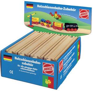 Schienen gerade, 21cm zu HEROS Holzschienenbahn im Thekendisplay, Holz, 3J+ 40944021