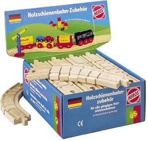Heros Schienen flexibel, 21cm zu HEROS Holzschienenbahn im Thekendisplay, Holz, 3J+ 40944041