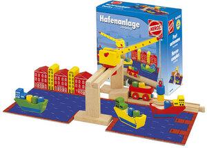 Hafenanlage Zubehör-Set zu HEROS Holzschienenbahn Magnet-Hebekran/Gebäude 40944552