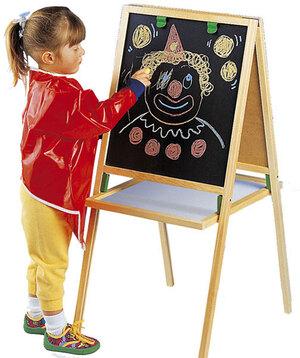 Heros Mal-Standtafel Magnetic mit 2 grossen Tafelflächen und Ablageboden, 43x53x92cm 40976002