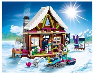 LEGO Chalet im Wintersportort Lego Friends, mit 2 Figuren und 1 Hund, 7-12 Jahre 41323A2