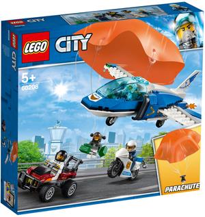 LEGO Polizei Flucht m. Fallschirm Lego City, 218 Teile, ab 5+ 60208