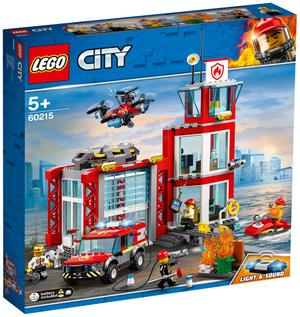 LEGO Feuerwehr-Station Lego City, 509 Teile, ab 5+ 60215A2