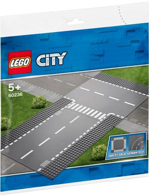 LEGO Gerade und T-Kreuzung Lego City, 2 Teile, ab 5+ 60236A1
