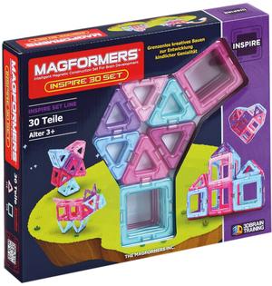 Magformers Inspire 30 Teile kreatives Bauen mit magnetischen Teilen, ab 3+ 41527433