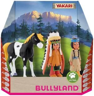 BULLYLAND Yakari 3-er Pack Yakari, Regenbogen & Kleiner Donner, PVC-frei, handbemalt 43043309