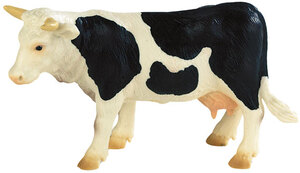 BULLYLAND Kuh Fanny schwarz-weiss 12 cm, PVC-Frei, naturgetreu und handbemalt 43062609