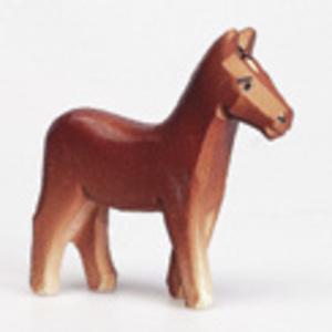 Pferd braun, 6 cm Holz, handgeschnitzt 43205014