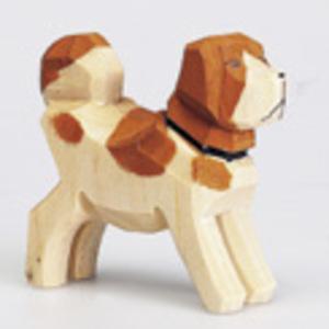 Hund braun, 6 cm Holz, handgeschnitzt 43205023