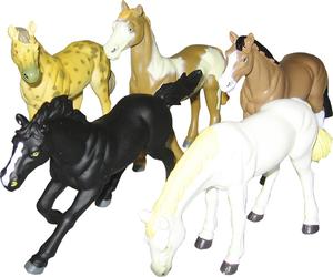 HUMTOYS Pferde 6-fach (eines wird geliefert sortiert 12 cm, Kunststoff Humtoys 43320035