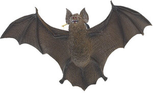 HUMTOYS Fledermaus braun, 28 cm Kunststoff 43322013