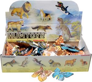 HUMTOYS Schmetterlinge 4-fach (eines wird geliefert sortiert 10cm, 133X 48 Stück im Display 43370002