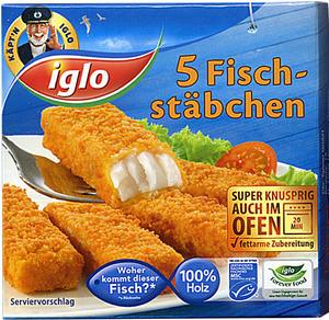 Tanner der kleine Kaufmann Fischstäbchen Iglo in Box, 7.5x1.5 cm 45330970