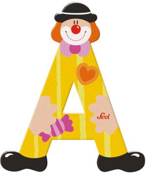 Sevi Buchstabe Clown A Holz, 10 cm In 3 Farben assortiert! 46081737