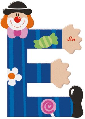 Sevi Buchstabe Clown E Holz, 10 cm In 3 Farben assortiert! 46081741