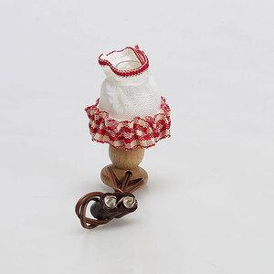 Tischlampe rot/weiss, 4.5 cm 46720394