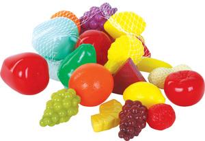 Gowi Früchte im Beutel zum Aufhängen, 22 Stück, Kunststoff, 5-8 cm 47445601