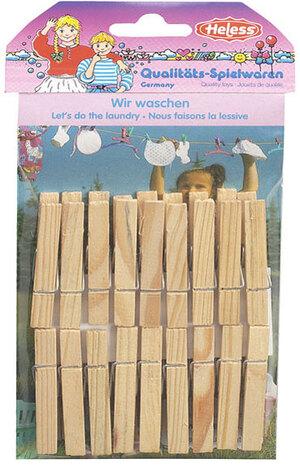 Heless Wäscheklammern Holz 5.5 cm, 18 Stück, 47520117