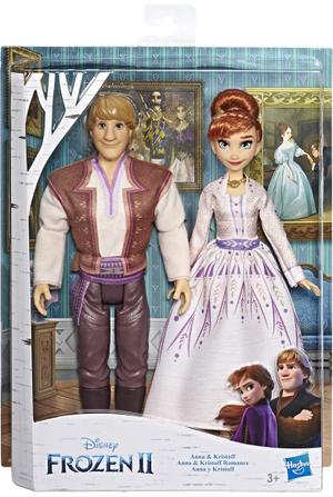 Hasbro Frozen 2 Anna und Kristoff 2 Puppen, 30 cm, Kleider, Schuhe, Zubehör, ab 3 Jahren 50405502