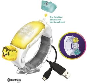 Hasbro Hanazuki Moodgleam Armband leuchtend, mit Akku, App und 2 Schätzen, ab 6 Jahren