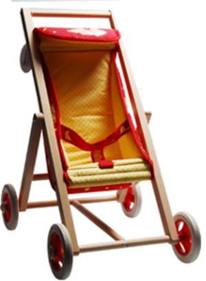 Puppenbuggy mit Holzgestell Bär 55130036