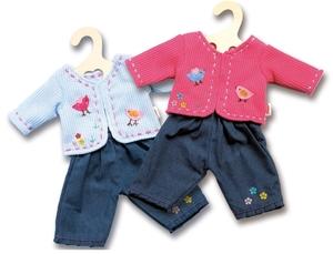 Heless Jacke mit Jeans, Gr.28-35 cm für Puppen, 2-fach (eines wird geliefert ass. rote oder hellblau 55501504