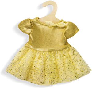 Heless Kleid Sterntaler, klein hellgelb-glitzer, Puppengrösse 28-35 cm 55501750