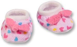 Heless Babyschuhe Puppen 28-35 cm Stoff bedruckt rosa 55501947