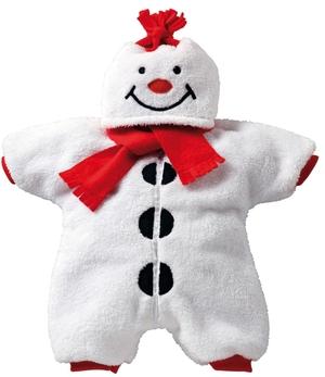 Heless Kuscheliger Schneemann für Puppen von 35-46 cm, Plüsch mit roter Schleife
