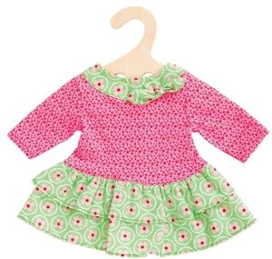 Heless Kleid Bloomy Puppe 35-45 cm hübsches Kleid in rosa-hell- grünem Blumenmuster 55502624