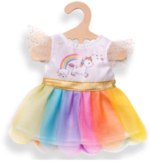 Heless Kleid Einhorn gross für Puppen von 35-45 cm, mit Regenbogen-Tüllrock 55502850
