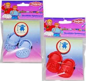 Heless Clogs für Puppen, 28-33 cm 2-fach (eines wird geliefert assortiert 55550010