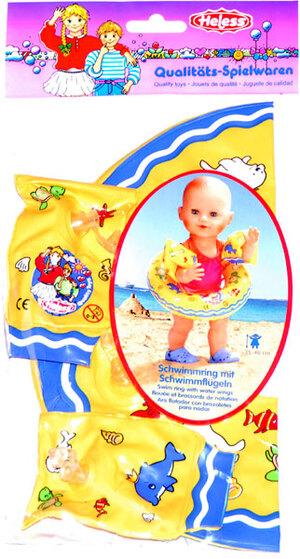 Heless Puppen-Schwimmset, 35-46 cm Schwimmring und Flügeli, mit süssem Motiv 55550880