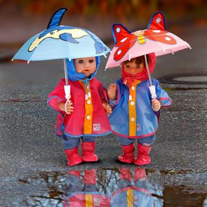 Heless Regenmantel für Puppen Gr. 35-45 cm, 2-fach (eines wird geliefert assortiert 55550972