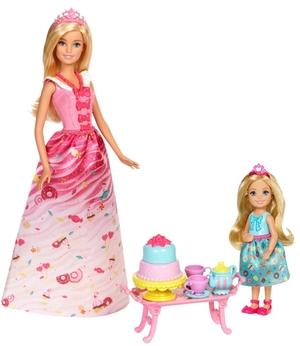 Barbie Bonbon Prinzessin & Chelsea Teezeit-Spielset, mit viel Zubehör, ab 3 Jahren 57002019