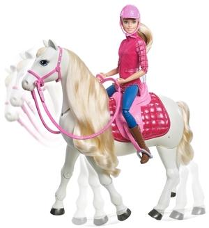 Barbie Traumpferd und Puppe mit Berührungssensoren, Batterien inkl. ab 3 Jahren 57002037