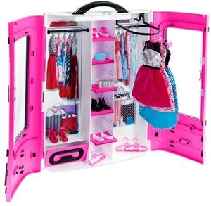 Barbie Kleiderschrank inkl. 2 Kleider, 3 Schuhe und vieles mehr, ab 3 Jahren 57002057