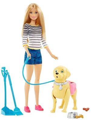 Barbie Hundespaziergang Puppe, Hund und Zubehör, ab 3 Jahren