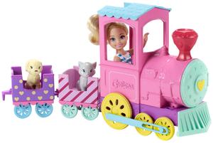 Barbie Chelsea ChooChoo Zug 43x26x7 cm, mit Puppe und 2 Tierfreunden, ab 3+ 57002086