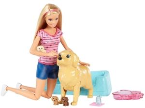 Barbie Hundemama Puppe mit Hundewelpen und viel Zubehör, ab 3 Jahren 57002117