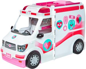 Barbie 2-in-1 Krankenwagen 17x25x43 cm, viel Zubehör, Batterien 3xAAA inkl. ab 3+ 57002119