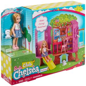 Barbie Chelsea Baumhaus Spielset mit Puppe und Zubehör, ab 3 Jahren 57002283