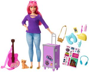 Barbie Travel Puppe pink und Zubehör, ab 3 Jahren 57002580