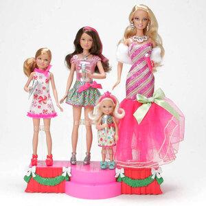 Barbie Zauberhafte Weih- nachten Singende Schwestern mit Bühne 57002990